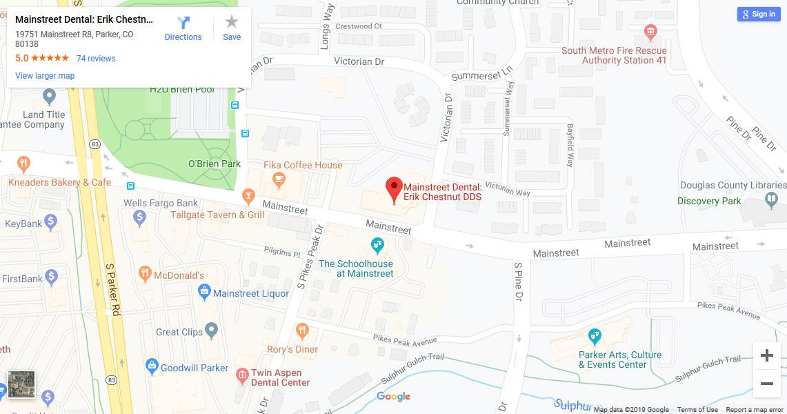 Mainstreet Dental Map